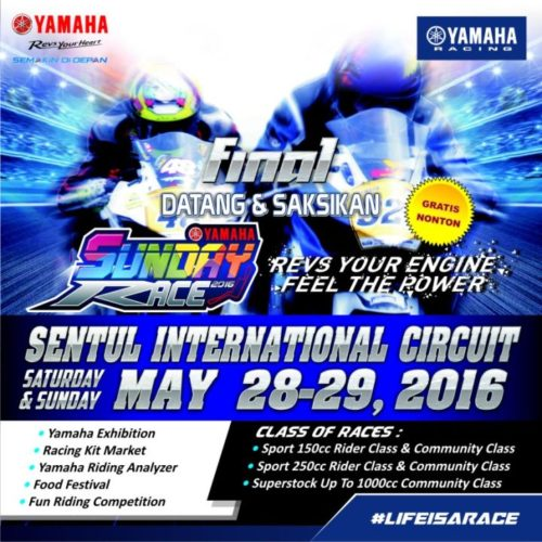 YAMAHA SUNDAY RACE 2016 FINAL